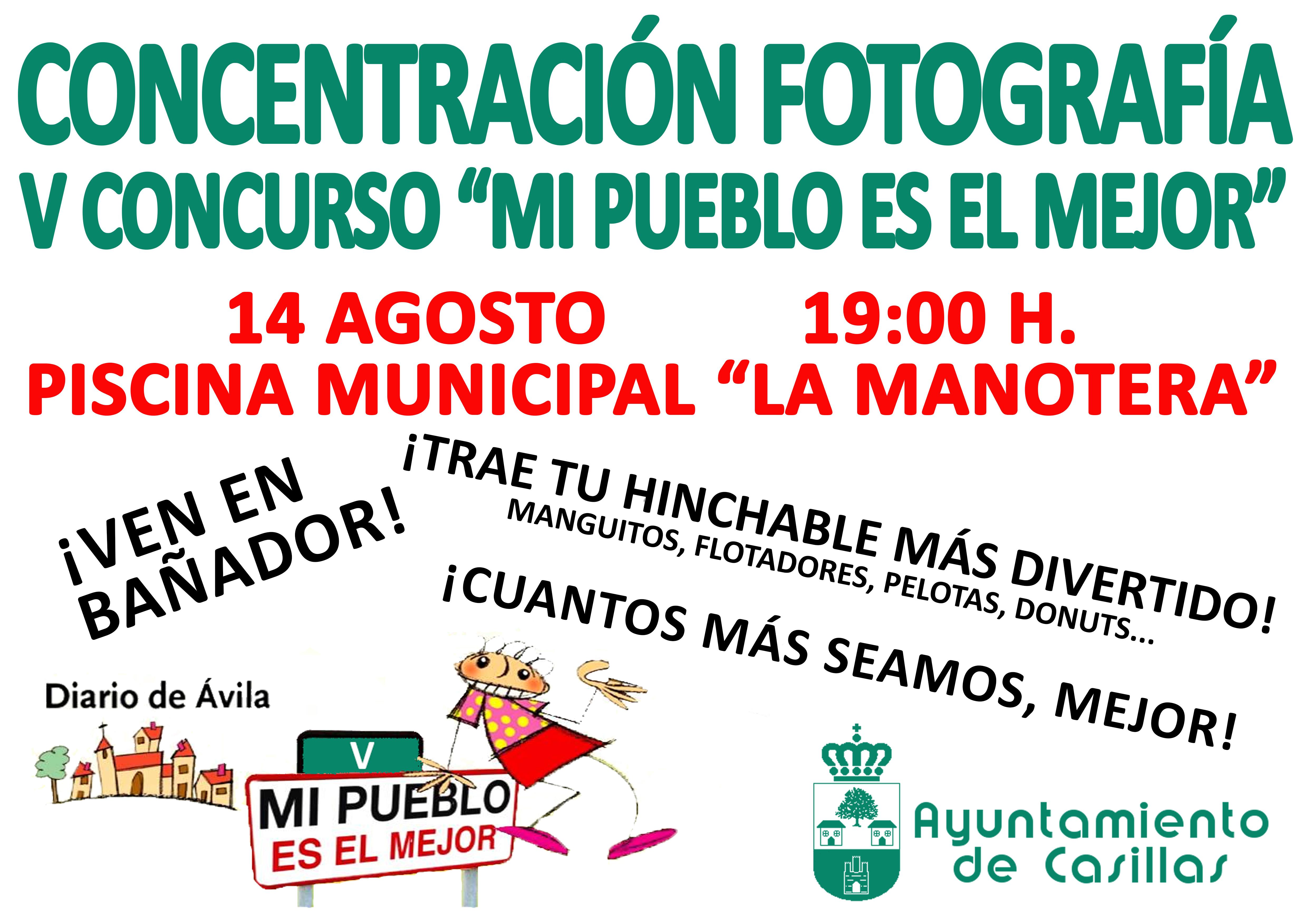 Concentraci n fotograf a v concurso mi pueblo es el mejor for Piscina municipal avila
